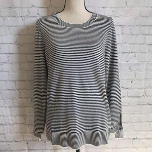 4/$25 LOFT Cozy Striped Tie Sleeve Sweater Top